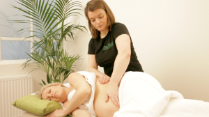 Lindsay doing with pregnancy massage