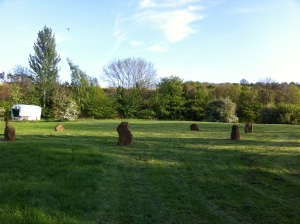 Stone circle for Qi Gong