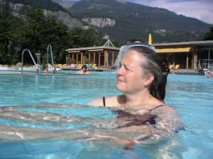 Exploring shiatsu in water, Switzerland
