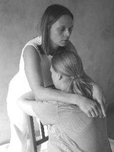 Shiatsu shoulder work, from Shiatsu for Midwives by Suzanne Yates