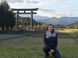 Veronique at Hongu: largest shrine in Japan