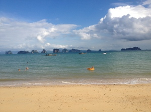Looking at the rocky crags from Koh Yao Noi