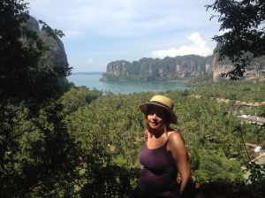 Suzanne at the end of her Thailand trip: Railay Bay